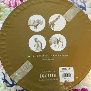 Safari animal plate set.